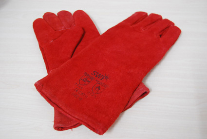 Long Fireside leather gloves - 6 euros